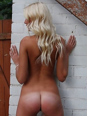 Youngster blonde posing