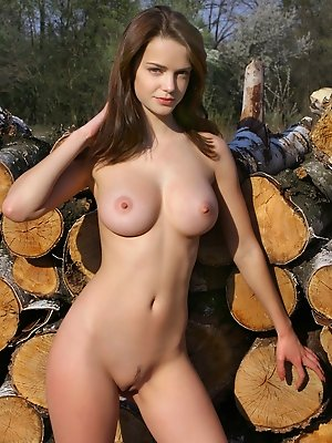 Booby hottie outdoor